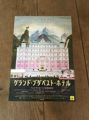 original The Grand Budapest Hotel Film Poster Wes Anderson