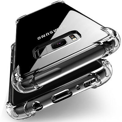 TPU Crystal clear 360°Soft Ultra thin Case Cover For Samsung Galaxy S7 Edge S8 +