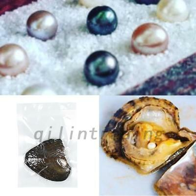 5PCS Individually Wrapped Freshwater Oysters With Large Pearls 0.75-8MM Gift