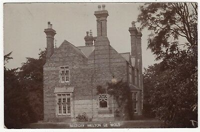 Real Photo Postcard Of The Rectory, Welton Le Wold,  Lincolnshire