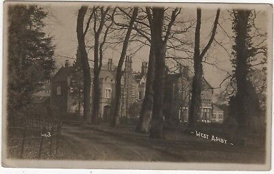 Real Photo Postcard Of The Manor House West Ashby,  Lincolnshire