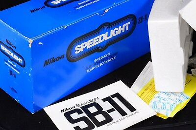 Complete Packaging, Box And Manual Only For Nikon Sb-11 Speedlight No Flash Gun
