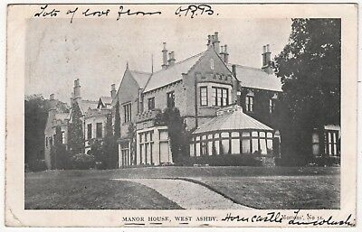 Printed Photo Postcard Of The Manor House West Ashby,  Lincolnshire Posted 1907