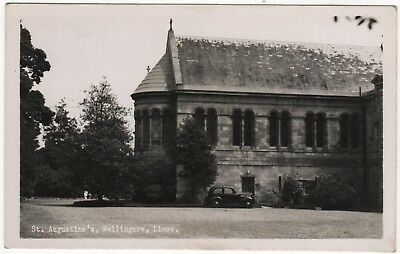 Real Photo Postcard Of St. Augustine's Wellingore,  Lincolnshire
