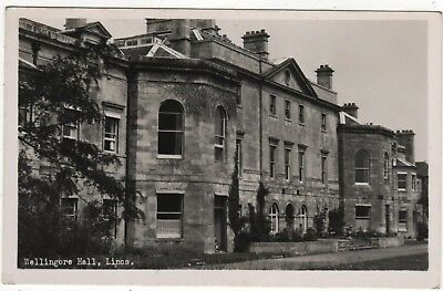 Real Photo Postcard Of Wellingore Hall,  Lincolnshire