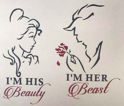 Wine Glass Vinyl Decal Stickers beauty and the beast