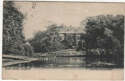 Nainby Printed Photo Postcard Of Well Hall, Alford, Lincolnshire Posted 1904