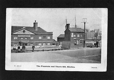 Old postcard of The Fountain & Thorne Hill, Mistley, Essex.