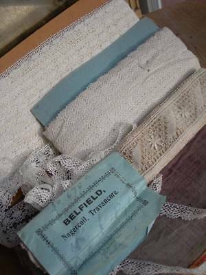Approx. 70 metres unused bobbin lace - unopened packet from Convent in India