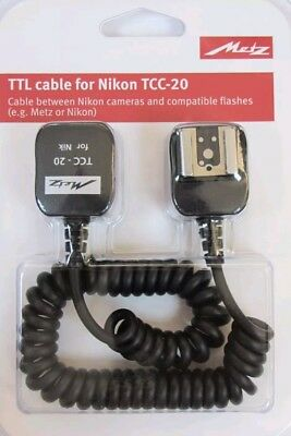 Metz TTL  Cable for Nikon TCC-20 - New UK Stock  not Nikon SC17 or Nikon SC29