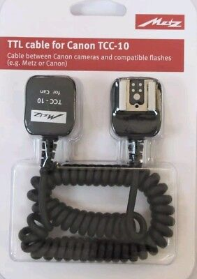 Metz TTL  Cable for Canon TCC-10 - New UK Stock Not Canon OC E3 TTL Lead
