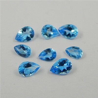 5 cts Natural Swiss Blue Topaz Gemstone Nice Loose Cut Faceted Lot  R#234-4