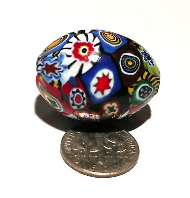 Vintage Venetian Multi-Murine Oval Glass African Trade Bead