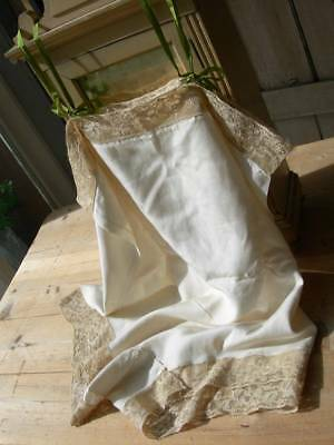 Pure silk antique French 1920s wedding trousseau lingerie camiknickers (B)