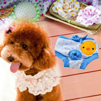 Blue Size M Pet Dog Puppy Diaper Pants Physiological Sanitary Warm Underwear NEW