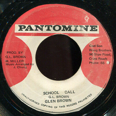 "Glen Brown - School Call / Father's Call 7"" Listen!"