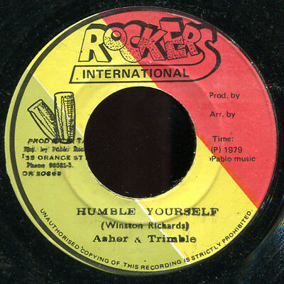 "Asher & Trimble - Humble Yourself JA Rockers International KILLER! 7"" Listen!"