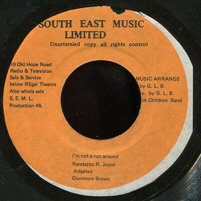 "Glen Brown - I'm Not A Run Around JA South East KILLER! 7"" Listen!"