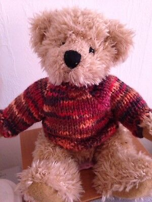 """TEDDY CLOTHES"" Hand Knitted Jumper For 8"" Bear"