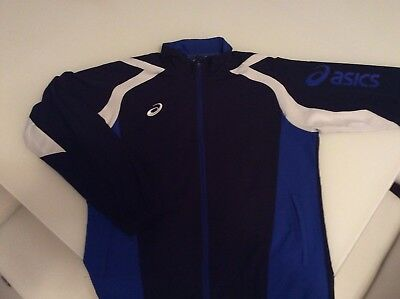 Mens Asics Zip Up Cross Jacket - Running Jacket Xa504N - Nr Mint - Size Large