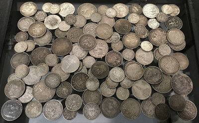 105 OLD GERMANY SILVER COINS (1/2 MARKS to 5 MARKS) SEE PICTURES > NO RESERVE