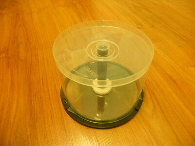 4 of empty Spindle Tub Case for CD/DVD storage/craft, 50 disks capacity each