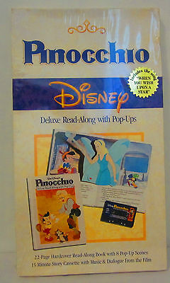 Disney's Pinocchio Disney Deluxe Read-Along with Pop-Ups Sealed