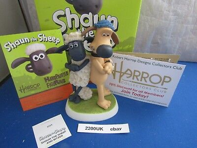Shaun The Sheep And Bitzer  Wg24 Limited Edition Robert Harrop Wallace & Gromit