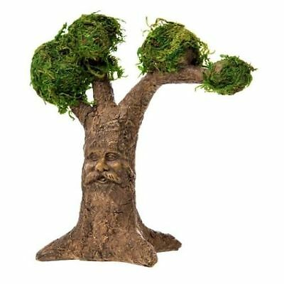 Miniature Fairy Garden Moss Covered Tree w/ Carved Face - Buy 3 Save $5