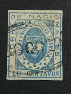 Momen: Colombia #16 1861 Used Xf $175 Lot #6506