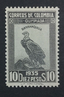 Momen: Colombia #436 1935 Mint Og Vvlh $550 Lot #6862