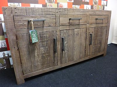 New Chunky Contemporary Reclaimed Wood Large Sideboard *Furniture Store*