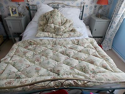 Matching Pair of vintage French Feather Eiderdowns