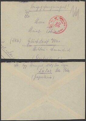 Yugoslavia WWII - Red Cross POW Cover to Germany 24338