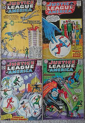 Justice League of America [vol.1] #'s 13, 14, 16 and 36 ~ DC Silver Age comics