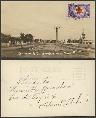 Dominican - Postcard Satiaco to Italy - Red Cross 24338