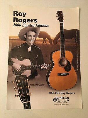 Roy Rogers 2006 Limited Edition Martin Om-45B Promo Poster! Acoustic Guitar!