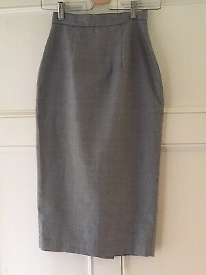 Vivien Of Holloway Houndstooth Check Pencil Skirt Size 10