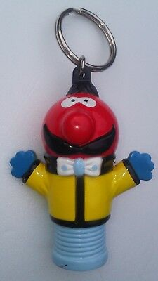 MAGIC ROUNDABOUT Figure - LARGE ZEBEDEE - Plastic Keyring - Danot 1992  - VGC