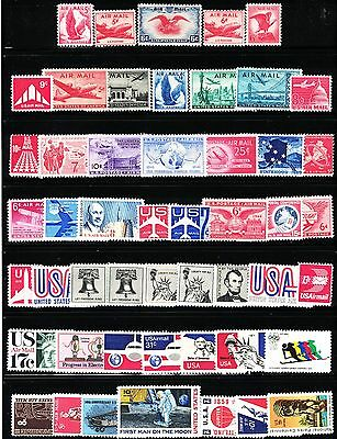 U.s.  -- 50 All Different Airmail Stamps **all Mint Never Hinged**1938 - 1976*
