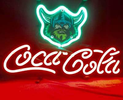 """Cola Coke Vikings Rugby Helmet Pepsi Poster Patch Ball Neon Light Sign 13""""x8"""""""