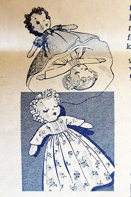 TOPSY-TURVY DOLL vintage iron on embroidery transfer sewing pattern 1950s UNUSED