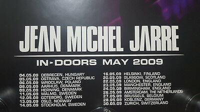 "Jean Michel Jarre ""in>Doors May 2009"" Official Merchandise Poster / Out Of Print"