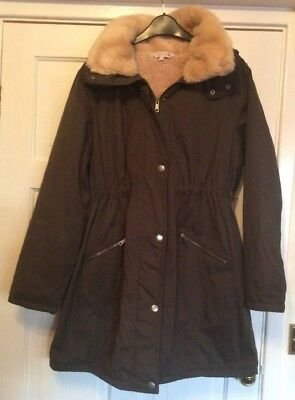 MATERNITY 'RED HERRING of DEBENHAMS' COAT SIZE 14