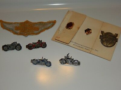 Vintage Harley Davidson Pins Plus Patch and  AMA Pins