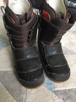 Snowboard Boots - Burton Ion size 10.5 in wicked snakeskin brown.