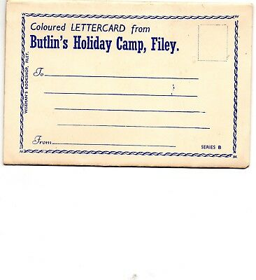 Lettercard of Butlin's old Holiday Camp, Filey, E Yorks.