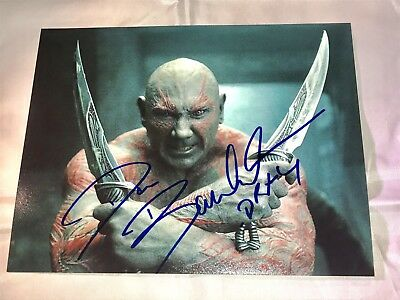 Dave Bautista Guardians Of The Galaxy Drax Signed Autographed 8X10 Photo W/Coa
