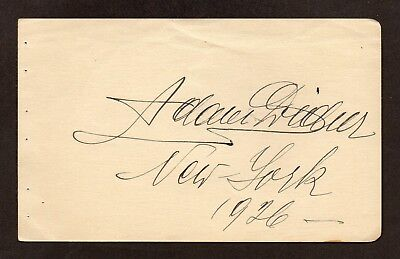 MYSTERY 1926 OPERA SIGNATURE Page WHO IS IT??  ADAM D???