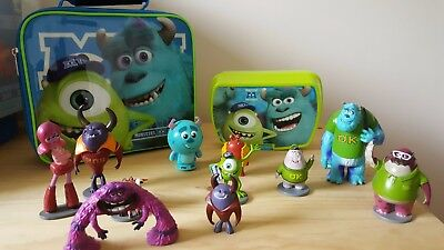 Disney Monsters Inc Monsters University Collection Of Toys and carry case